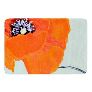 Vintage Poppy by Christen Treat Bath Mat