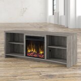 St Philips TV Stand for TVs up to 65 with Fireplace Included by Mercury Row®