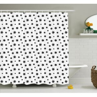 Deborah Starry Pattern With Little Big Stars Punk Grunge Style Modern For Teens Room Single Shower Curtain