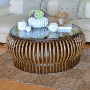 Honey Comb Rattan Coffee Table by Kouboo
