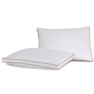 Diamond Jacquard Firm Polyester Bed Pillow (Set of 2)