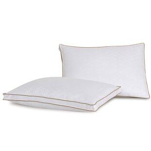 Diamond Jacquard Firm Polyester Bed Pillow (Set of 2) by Lauren Ralph Lauren