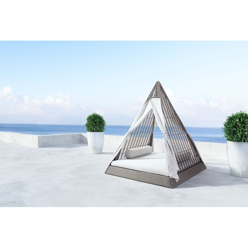 Lamarre Patio Daybed With Cushion