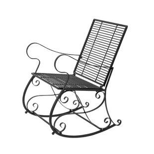 EC World Imports Luscious Scroll Rocking Chair