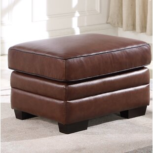 Darby Home Co Ehmann Leather Ottoman