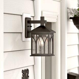Charlton Home Ledbetter Cast Aluminum Wall Lantern