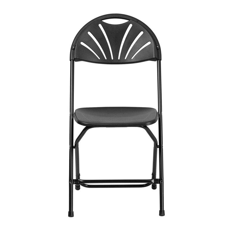 Offex Fan Back Metal Folding Chair Wayfair