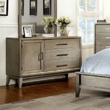 Adriane 3 Drawer Combo Dresser with Mirror by Latitude Run