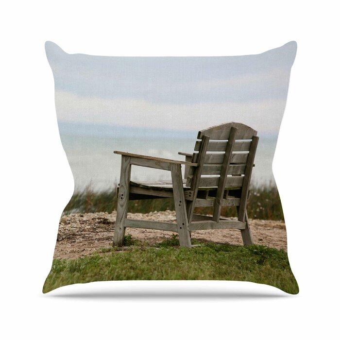 Wondrous Angie Turner Beach Bench Outdoor Throw Pillow Evergreenethics Interior Chair Design Evergreenethicsorg