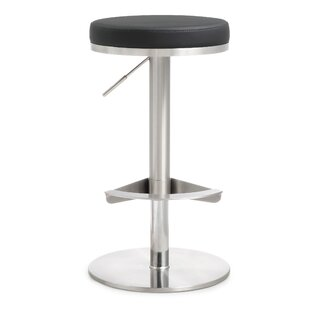 Aliyah Adjustable Height Swivel Bar Stool Orren Ellis