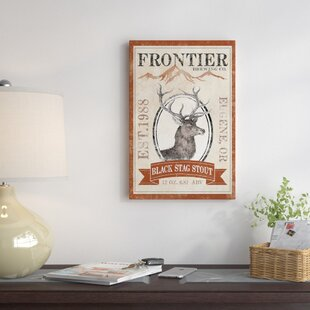 'Frontier Brewing Co. I (Black Stag Stout)' Vintage Advertisement on Canvas By East Urban Home