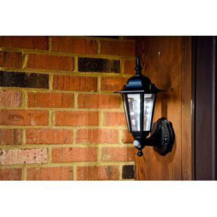 Lucy LED Outdoor Sconce with Motion Sensor by Charlton Home