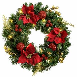 Pre-Lit Illuminated 60cm Lighted Wreath By The Seasonal Aisle