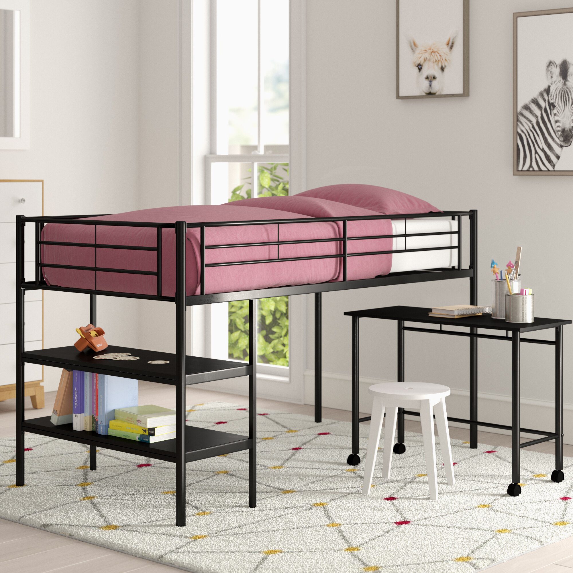 Picture of: Mack Milo Aglandjia Twin Low Loft Bed Reviews