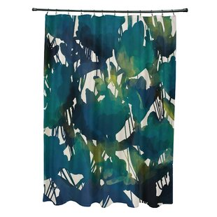 Bargain Kam Abstract Floral Print Shower Curtain By Bloomsbury Market