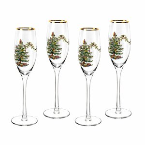Christmas Tree 8.45 Oz. Champagne Flute (Set of 4)