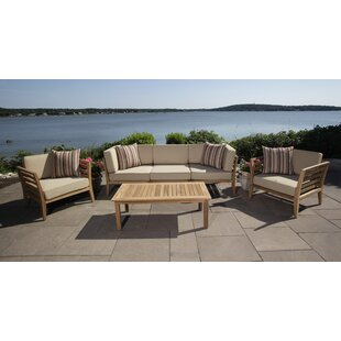 Bali 4 Piece Teak Sofa Seating Group With Cushions by Madbury Road Great price