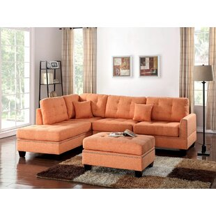 Eggert Reversible Sectional with Ottoman