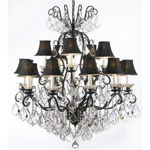 Rosdorf Park Clemence 16-Light Shaded Chandelier