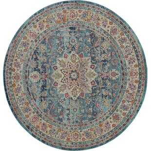 Lowndes Bohemian Blue Area Rug by Bungalow Rose