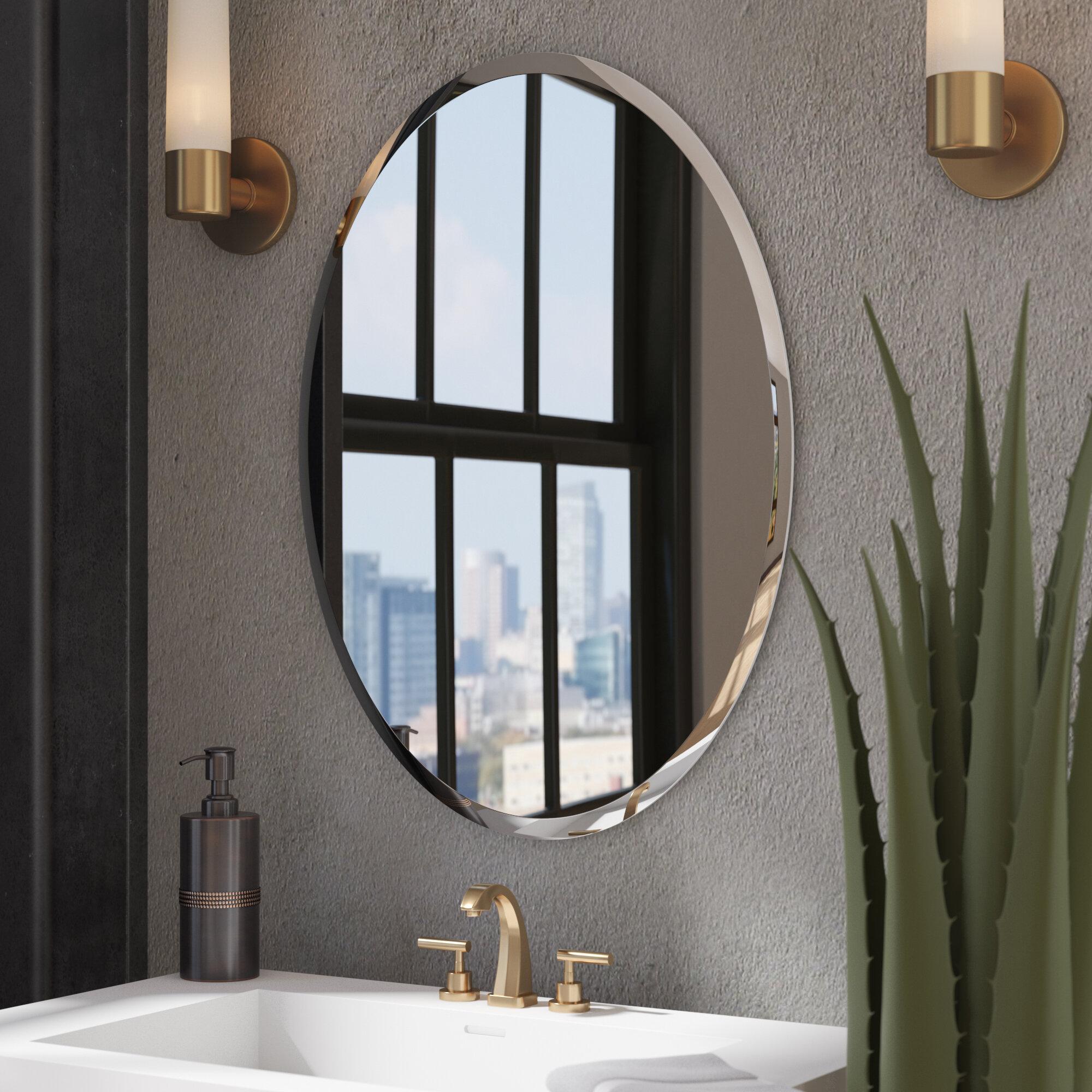 Wrought Studio Anaelle Modern Contemporary Beveled Frameless Bathroom Mirror Reviews Wayfair