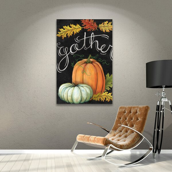 Thanksgiving Autumn Harvest III Painting Print on Wrapped Canvas - Thanksgiving Wall Decor
