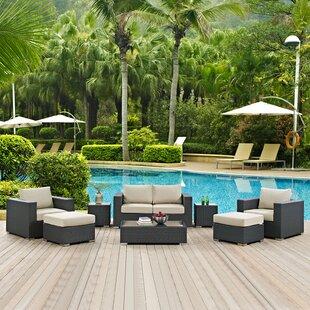 Brayden Studio Tripp 8 Piece Sunbrella Sofa Set with Cushions