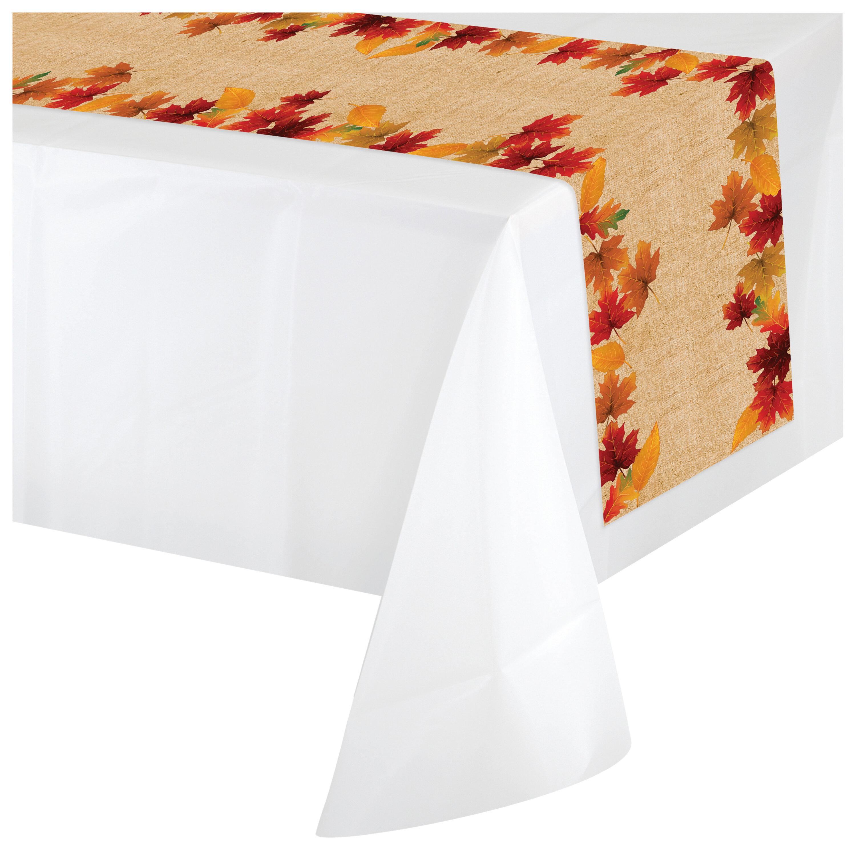 Creative Converting Fall Leaves Plastic Disposable Table Runner Wayfair Ca