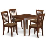 Aysegul 5 Piece Solid Wood Dining Set by Winston Porter