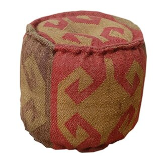 Wool Pouf by Divine Home