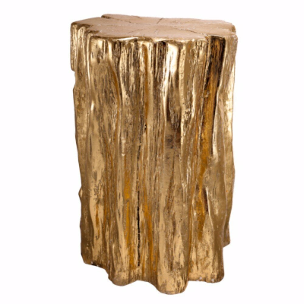 Wrought Studio Grund Nature Inspired Tree Trunk Accent Stool | Wayfair