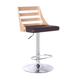 Delphine Height Adjustable Swivel Bar Stool By Wade Logan