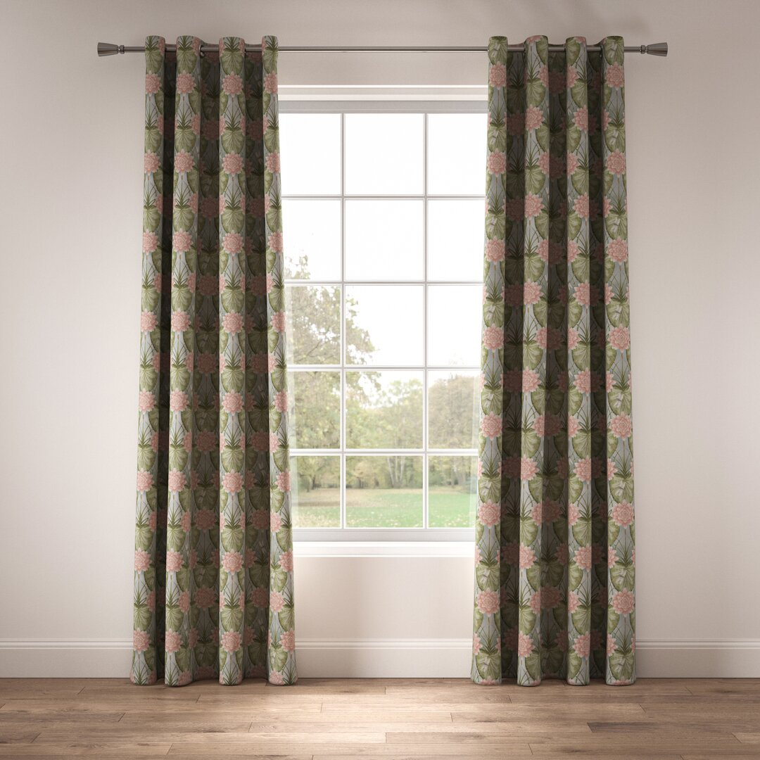 Lily Garden Eyelet Room Darkening Thermal Curtains