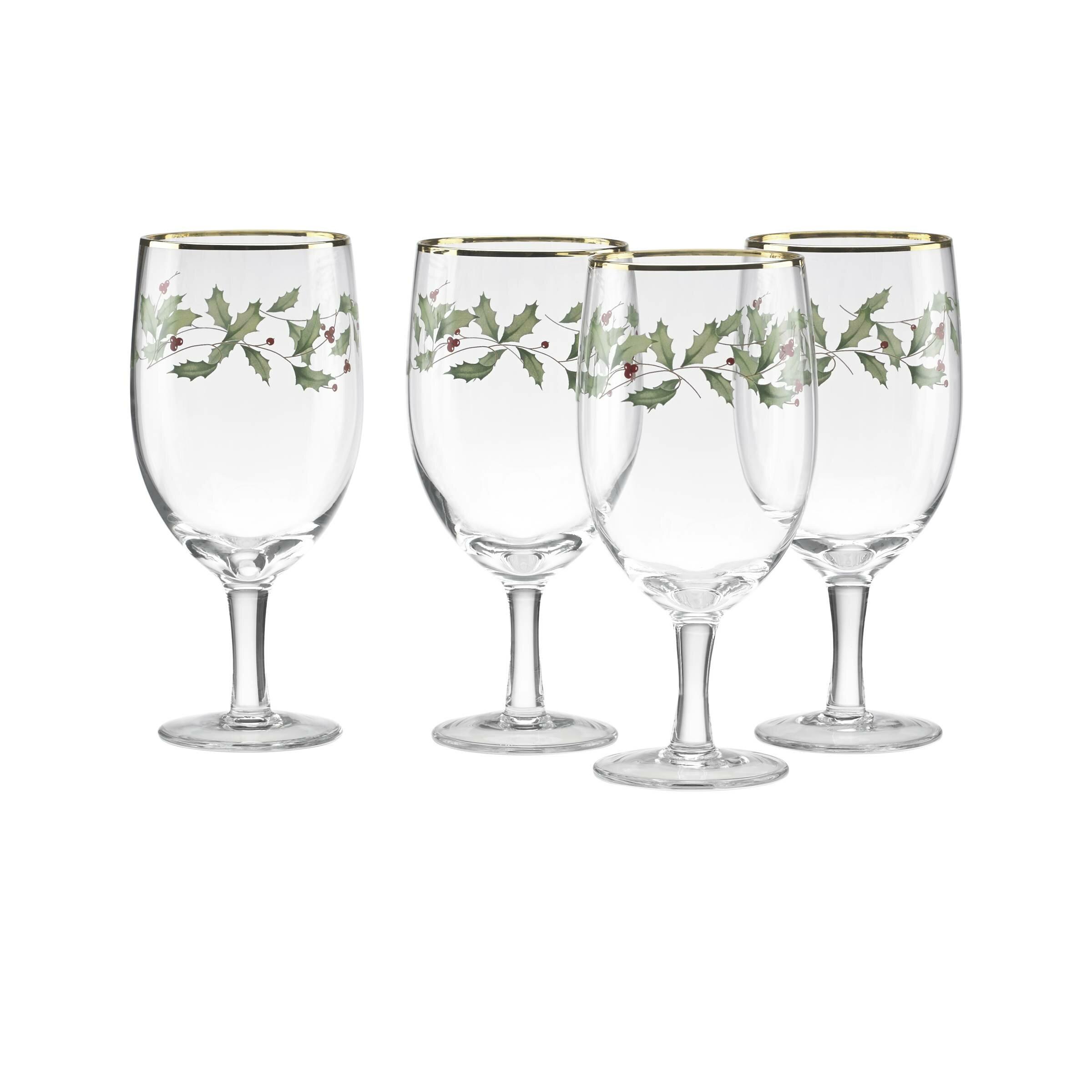 Holiday 14 Oz Glass Goblet Reviews Birch Lane