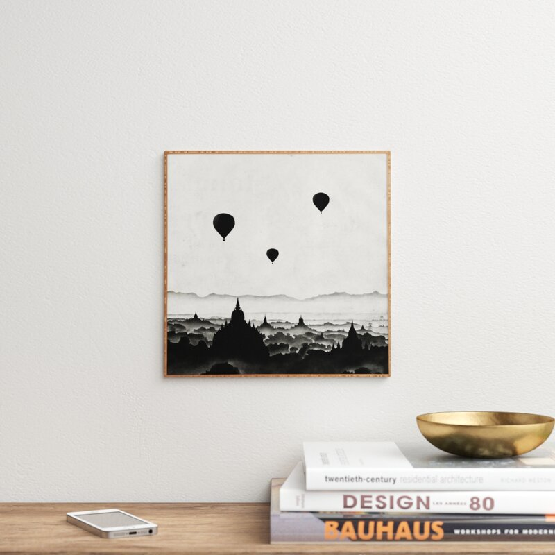 East Urban Home Aurora I Picture Frame Graphic Art Print On Wood Reviews Wayfair