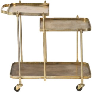 Domenick Antique Bar Cart by House of Hampton