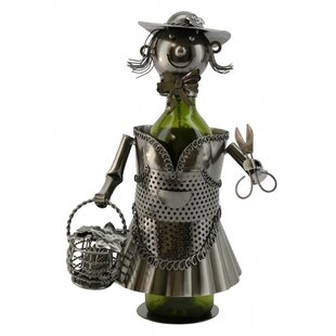 Lady Gardener 1 Bottle Tabletop Wine Rack..