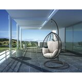 Patio Wicker Swing Chair with Stand