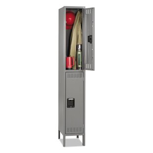 Double Tier Locker Storage Cabinet by Tennsco Corp.