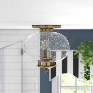 Shielo 3-Light Semi Flush Mount by Longshore Tides