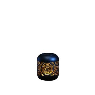 Fondren Global Black Solar Powered LED Outdoor Table Lamp By Bloomsbury Market