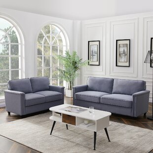 Modern Style Fabric Living Room Set by Alcott Hill