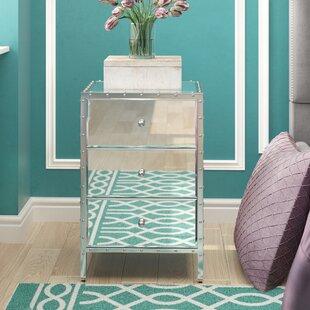 House of Hampton Mcnally Mirror 3 Drawer End Table