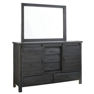 Jordyn 5 Drawer Combo Dresser with Mirror by Laurel Foundry Modern Farmhouse