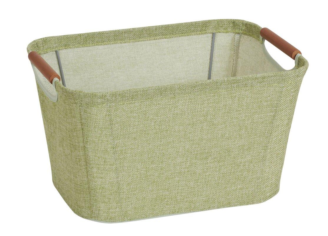 Open Storage Bin With Cloth Handle