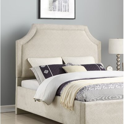 Bardwell Clip Corner Upholstered Panel Headboard by Charlton Home