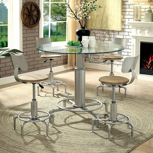 Emmaline 5 Piece Pub Table Set by 17 Stories