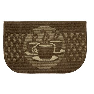 Textured Loop Day Time Coffee Wedge Slice Kitchen Area Rug by Structures