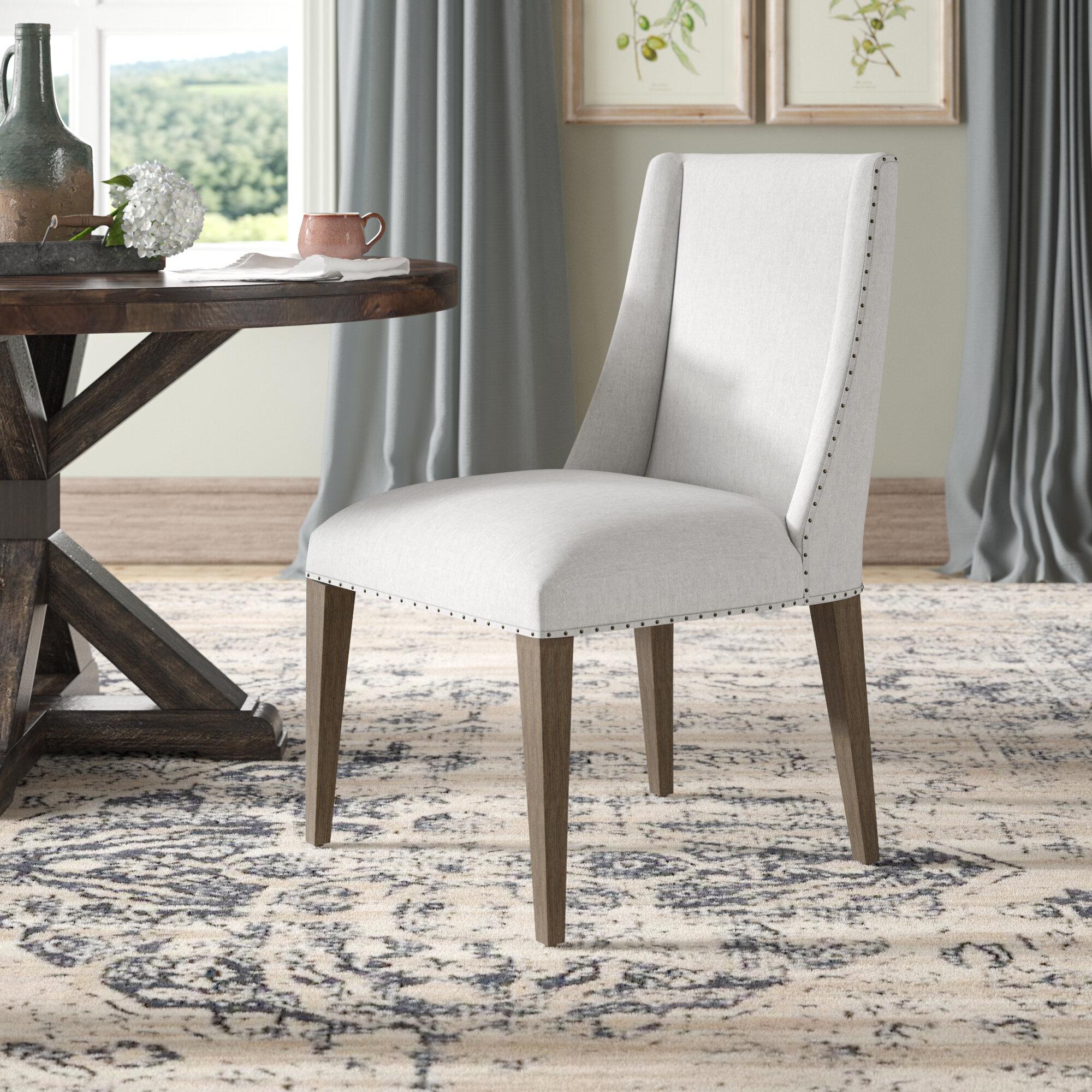 Laurel Foundry Modern Farmhouse Ferndown Upholstered Side Chair In White