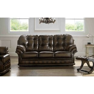 Comeaux Genuine Leather 3 Seater Sofa By Astoria Grand